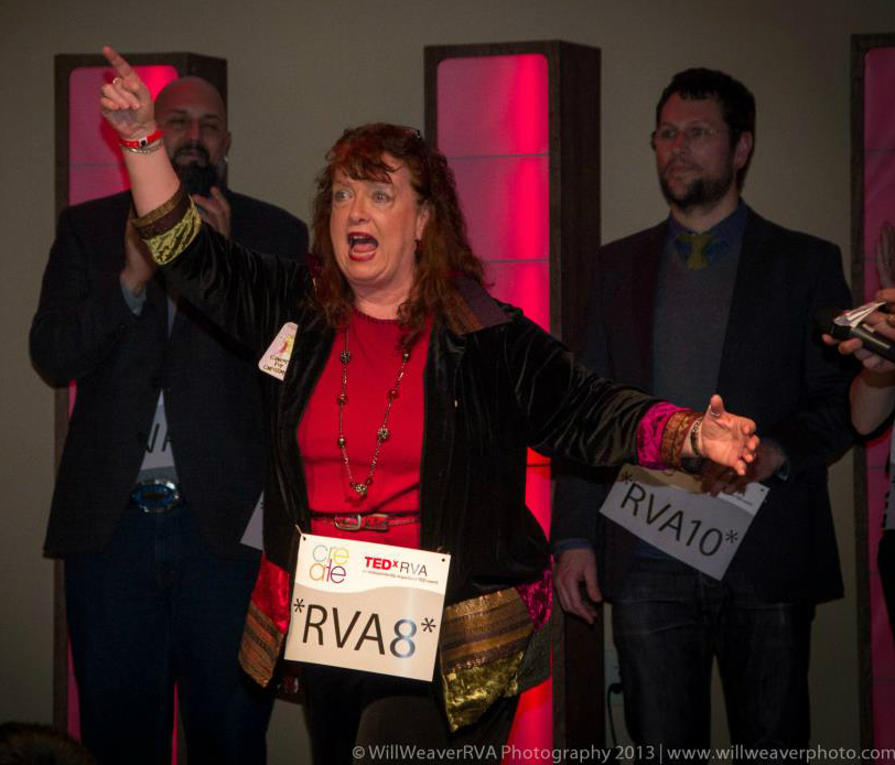 Casey Quinlan, advocacy in action at TEDxRVA.